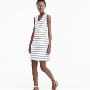 J. Crew Striped Tweed Sheath Dress